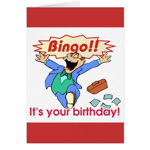 Tarjeta de cumpleaños del bingo
