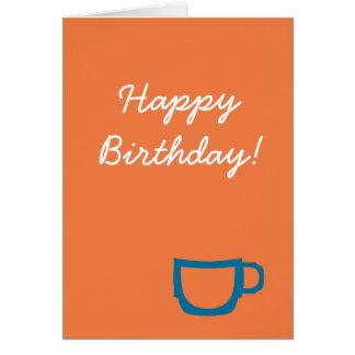Tarjeta de cumpleaños del café