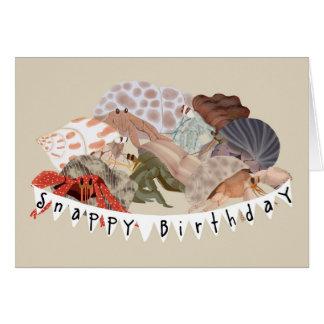 Tarjeta de cumpleaños del cangrejo de ermitaño