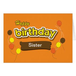 Tarjeta de cumpleaños del caramelo de la hermana