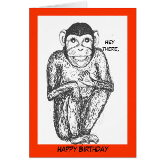 Tarjeta de cumpleaños del chimpancé