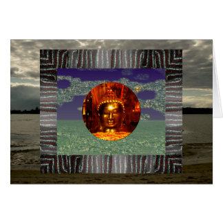 Tarjeta de cumpleaños del collage de Buda