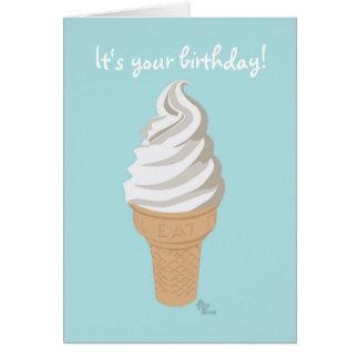 Tarjeta de cumpleaños del cono del Softy