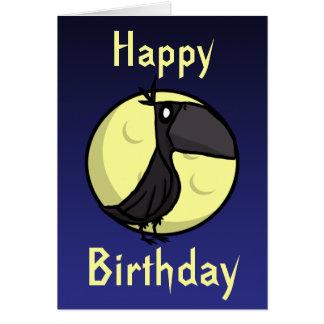 Tarjeta de cumpleaños del cuervo