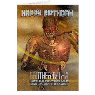 Tarjeta de cumpleaños del cuñado con el Cyborg - m