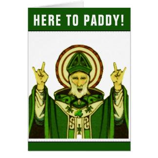 Tarjeta de cumpleaños del día de St Patrick