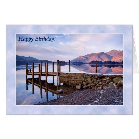 Tarjeta de cumpleaños del distrito del lago -