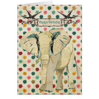 Tarjeta de cumpleaños del elefante blanco