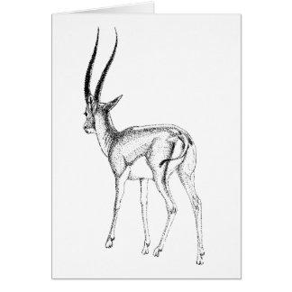 Tarjeta de cumpleaños del estudio del gazelle de
