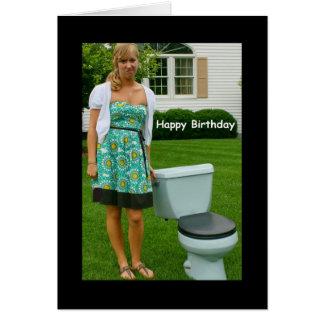 """Tarjeta de cumpleaños del """"feliz cumpleaños y de"""