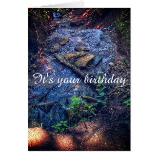 Tarjeta de cumpleaños del flujo