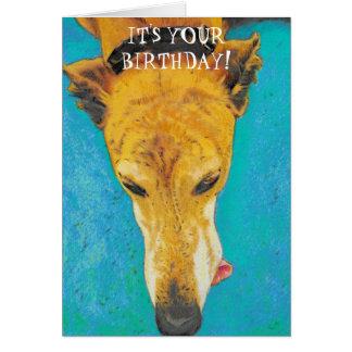 Tarjeta de cumpleaños del galgo ETS