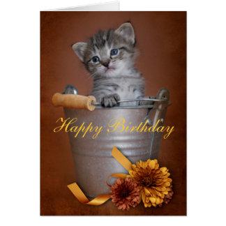 Tarjeta de cumpleaños del gatito