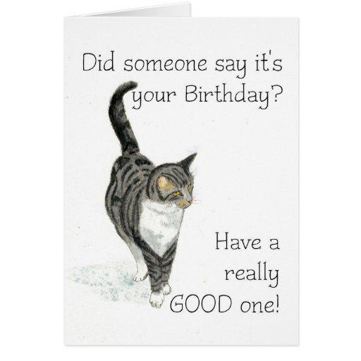 Tarjeta de cumpleaños del gato