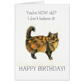 Tarjeta de cumpleaños del gato de Tabby de Brown