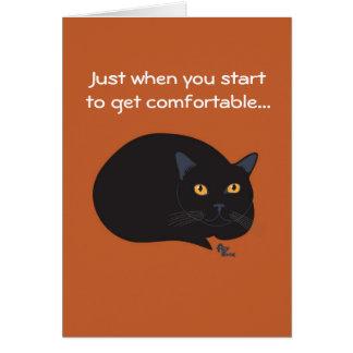 Tarjeta de cumpleaños del gato negro