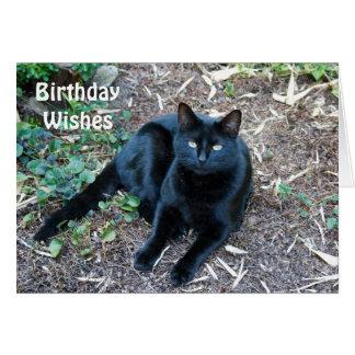 Tarjeta de cumpleaños del gato negro 1