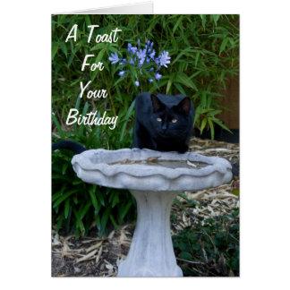 Tarjeta de cumpleaños del gato negro 2
