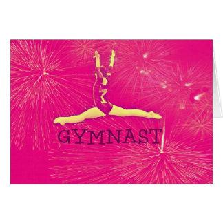 Tarjeta de cumpleaños del gimnasta