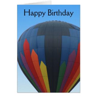 Tarjeta de cumpleaños del globo del aire caliente