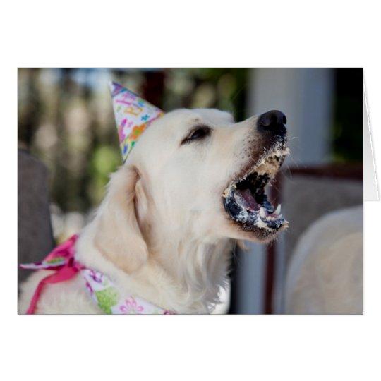 Tarjeta de cumpleaños del golden retriever