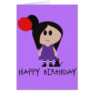 Tarjeta de cumpleaños del gótico de Lil