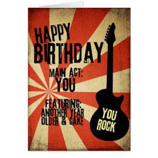 Tarjeta de cumpleaños del Grunge del rock-and-roll