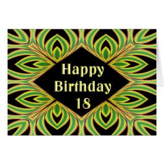 Tarjeta de cumpleaños del helecho del fractal