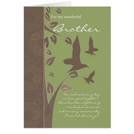 tarjeta de cumpleaños del hermano - tarjeta de fel