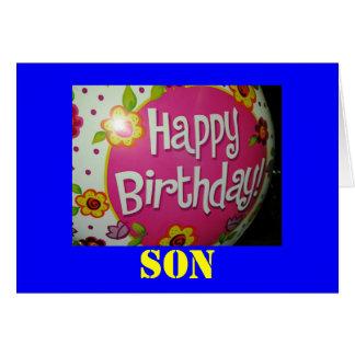 tarjeta de cumpleaños del hijo