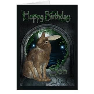 Tarjeta de cumpleaños del hijo - cumpleaños de lúp