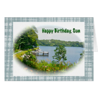 Tarjeta de cumpleaños del hijo de la escena de la