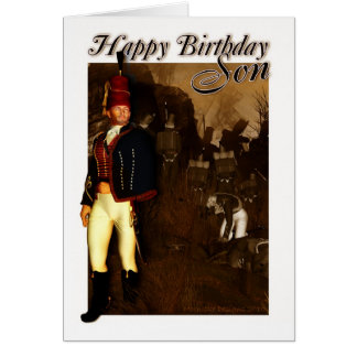 Tarjeta de cumpleaños del hijo - oficial 1822 del
