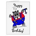 Tarjeta de cumpleaños del hipopótamo de Tommy