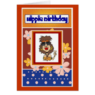 Tarjeta de cumpleaños del Hippie