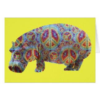 Tarjeta de cumpleaños del Hippopotamus del Hippie