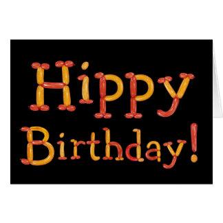 Tarjeta de cumpleaños del hippy