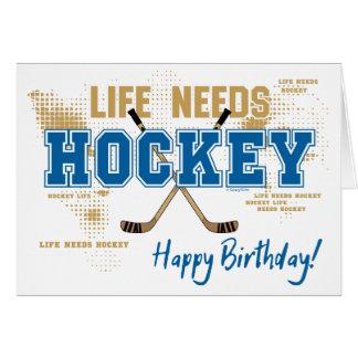Tarjeta de cumpleaños del hockey - la vida