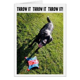 Tarjeta de cumpleaños del humor del perro