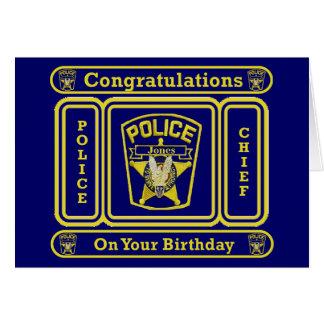 Tarjeta de cumpleaños del jefe de policía