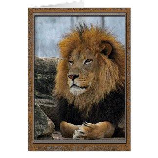 Tarjeta de cumpleaños del león 6880