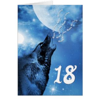 Tarjeta de cumpleaños del lobo del fantasma décimo
