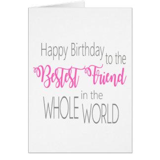 Tarjeta de cumpleaños del mejor amigo