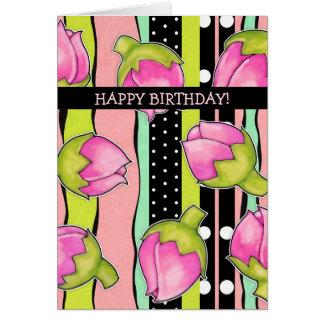 Tarjeta de cumpleaños del modelo del color de la a