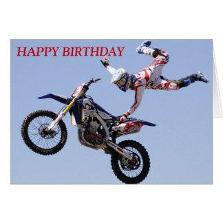 Tarjeta de cumpleaños del motocrós