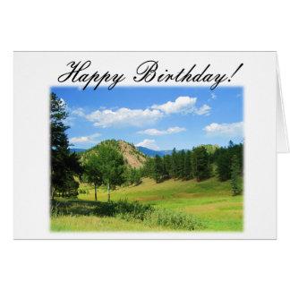Tarjeta de cumpleaños del Mountain View - cristian