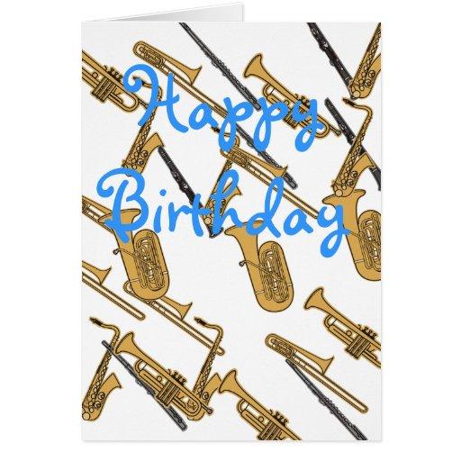 Tarjeta de cumpleaños del músico