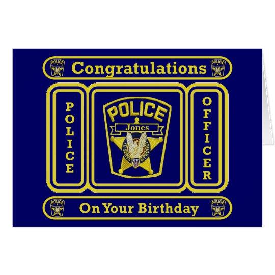 Tarjeta de cumpleaños del oficial de policía