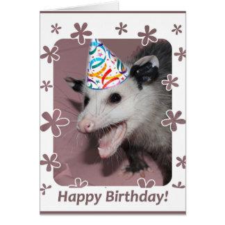 Tarjeta de cumpleaños del oposum