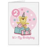 Tarjeta de cumpleaños del oso de peluche 2da